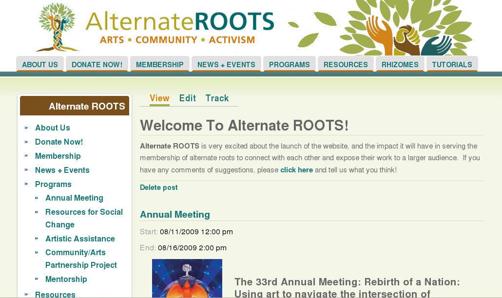 Alternate ROOTS Website